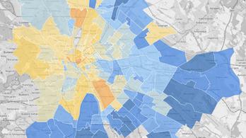 Térképen a budapesti albérletárak