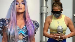 A lila hajú Jennifer Lopez látványára azért nem voltunk felkészülve