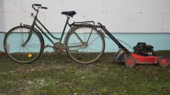 Lopott biciklivel húzta a lopott fűnyírót egy borsodsziráki férfi