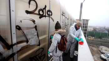 Húszmillió forintnál is több kárt okoztak a graffitisek a MÁV-nak