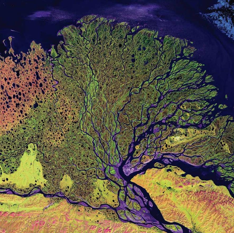 A Léna-folyó deltája, Oroszország