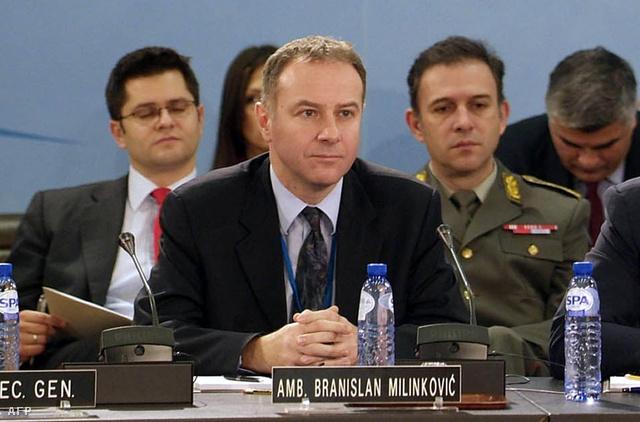 Milinković egy brüsszeli NATO értekezleten 2006-ban
