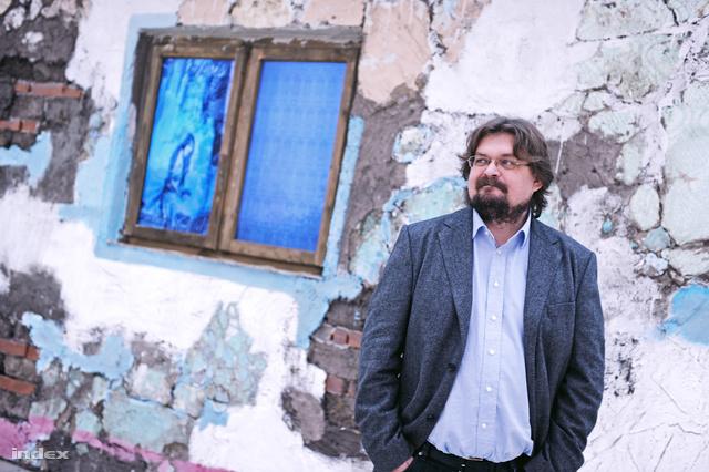 Gulyás Gábor, a Műcsarnok igazgatója.                          Fotó: Győrffy Anna