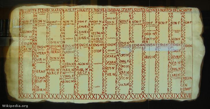 A Fasti Antiates Maiores reprodukciója