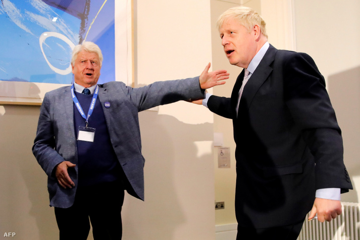 Boris Johnson és apja, Stanley Johnson