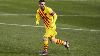 Messi újabb mérföldkövekhez érkezett Barcelonában