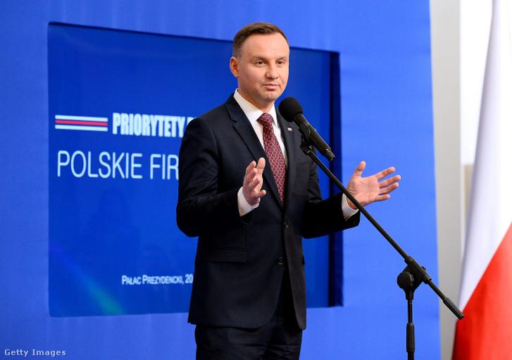 Andzrej Duda lengyel államelnök.