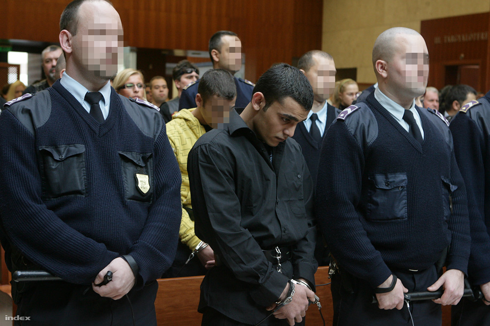 Az olaszliszkai lincselők ítélethirdetése 2009. november 13-án.