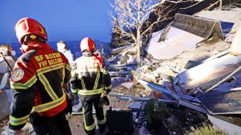 Kétezer köbméter szikla omlott egy szállodára Olaszországban