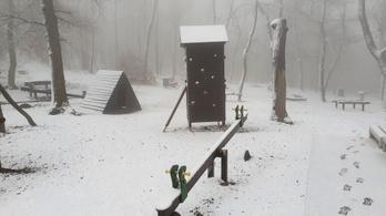 Megérkezett Budapestre is a hó