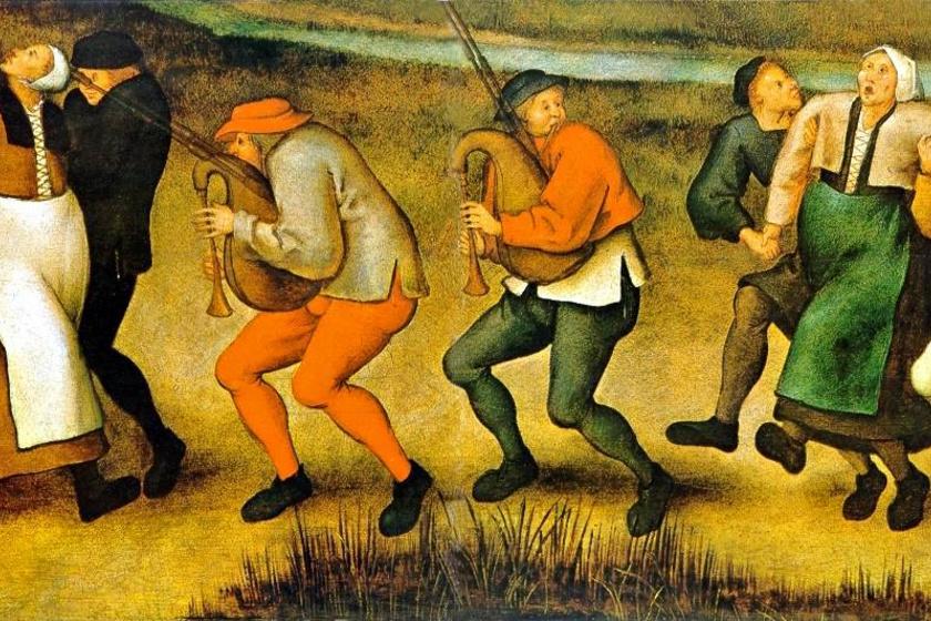 Ifjabb Pieter Bruegel, Tánc Molenbeekben. (Epilepsziások menete a templomhoz.)