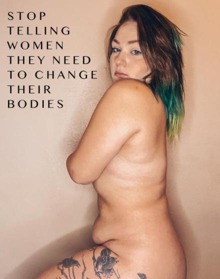 - Ne mondjátok a nőknek, hogy meg kell változtatniuk a testüket - üzeni képén a gyönyörű Hope, aki ma már meztelen fotókat is posztol Instagramjára.