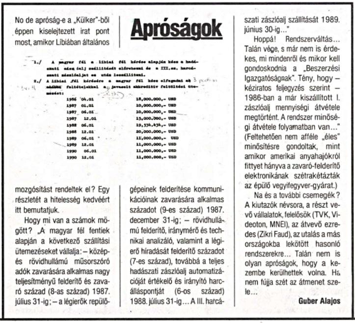A cikk a Reform hetilap 1990. december 14-i számában