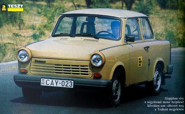 Négyütemű Trabantom az Autó Motor egyik összehasonlító tesztjének résztvevőjeként valamikor a kilencvenes évek elején