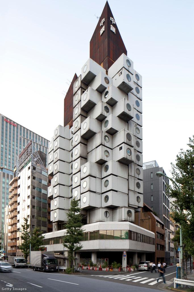 Tokió Shimbashi nevű kerületében a városkép emblematikus része a Nakagin kapszulatorony.