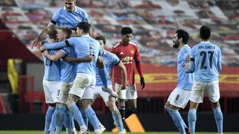 A Manchester City nyerte a városi rangadót, bejutott a Ligakupa-döntőbe