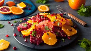 Articsóka-vérnarancs saláta – sovány húsok mellett a legfinomabb