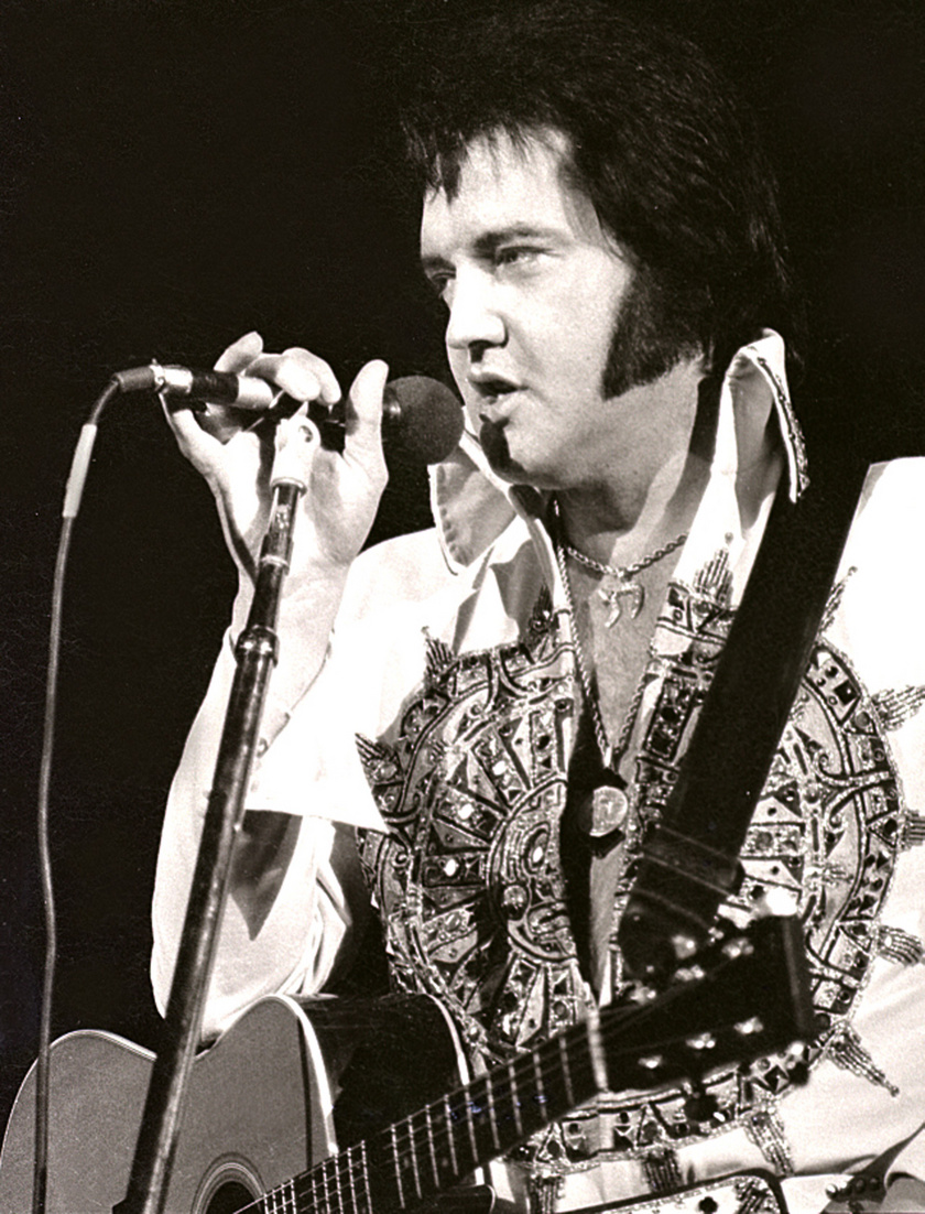 Elvis 1977 áprilisában.