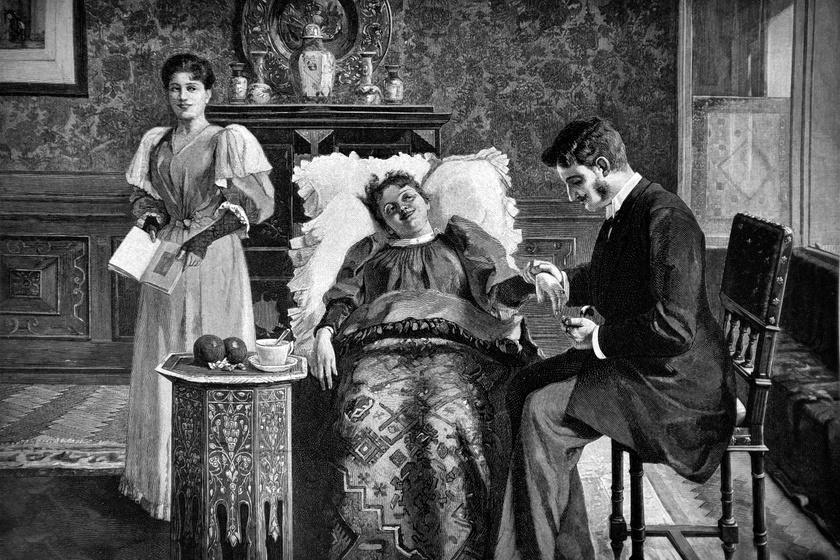Orvos a 19. században.