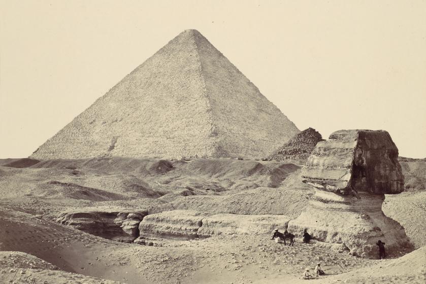 1857-es kép a nagy Szfinxről. Alkotó: Francis Frith.