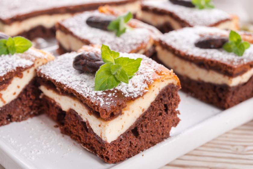 Túrós-kakaós tarka süti kevert tésztából: mutatós és egyszerű