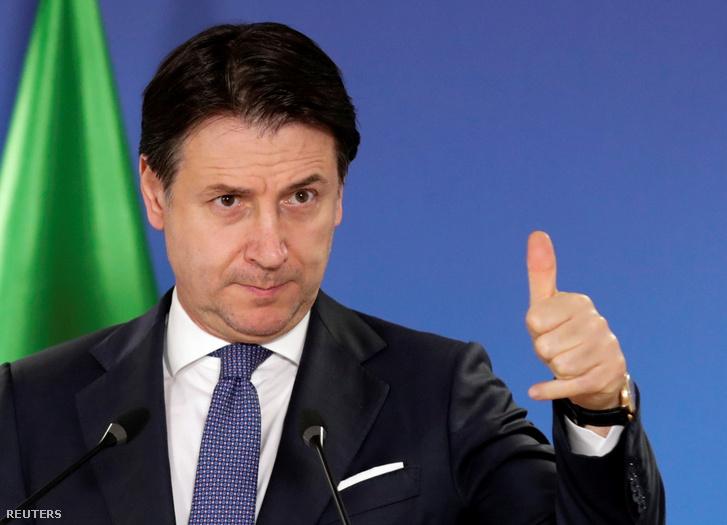Giuseppe Conte olasz miniszterelnök.