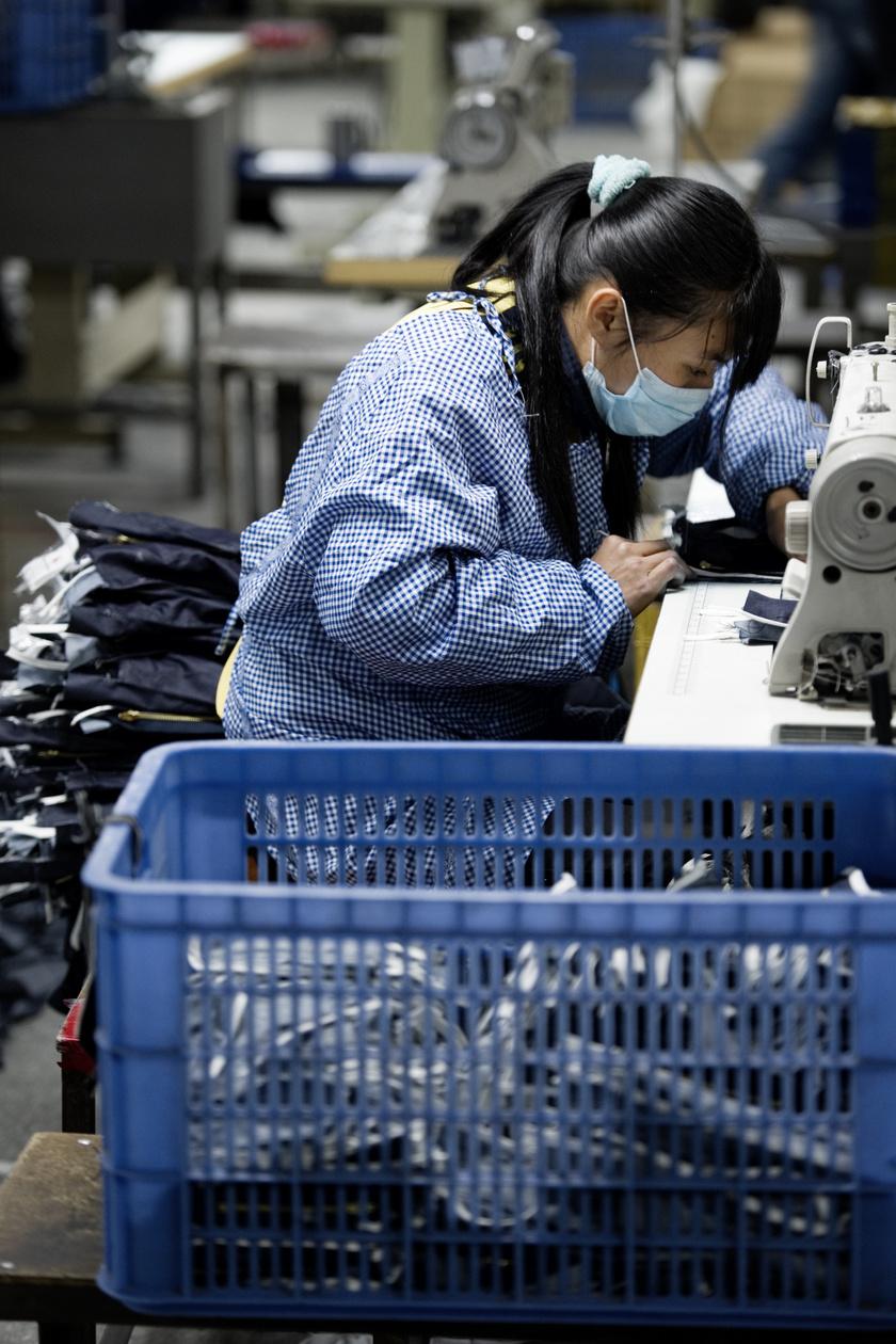 Kínai textilgyár.
