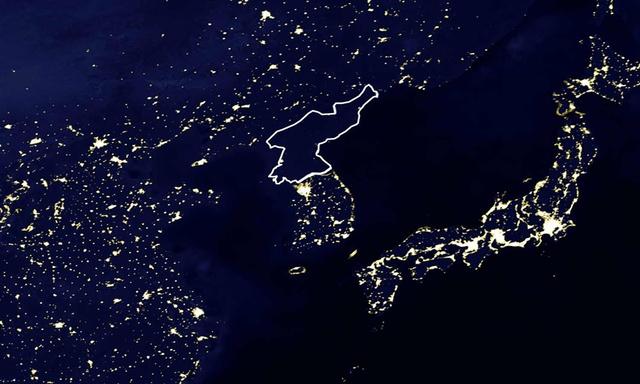 Észak-Korea az űrből