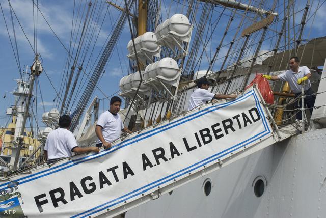 A feltartóztatott argentin hajó