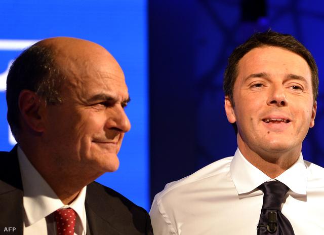Luigi Bersani és Matteo Renzi