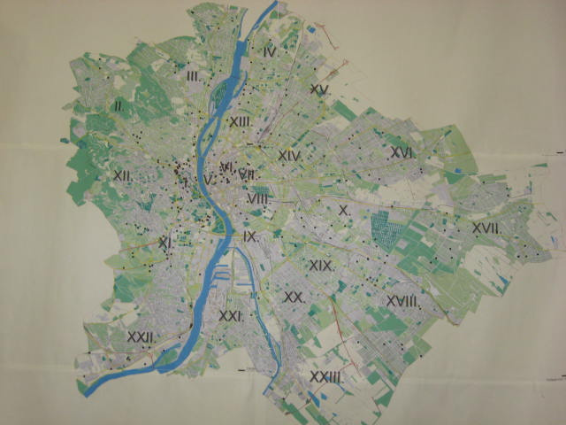 Budapest pöttyös térkép
