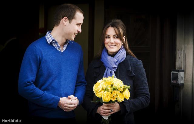 Vilmos herceg és Katalin hercegné a kórházból hazatérőben 2012. december 6-án