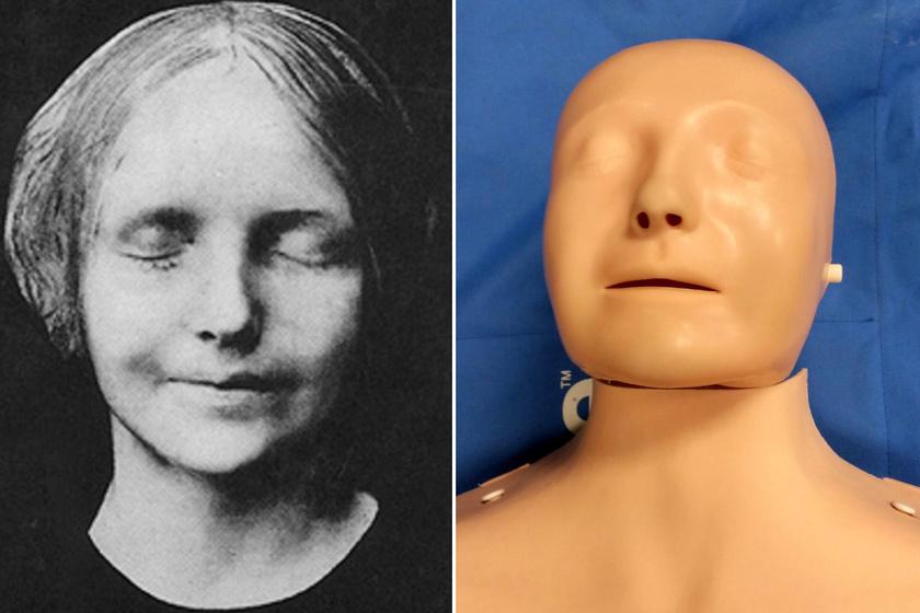 Ma is a 200 éve vízbe fulladt lány arcát viselik az elsősegélybabák: rajta gyakoroljuk az újraélesztést