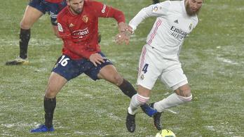 A Real Madrid nem bírt az Osasunával a szakadó hóban