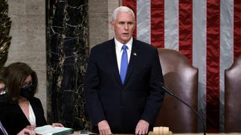 Pence szakít Trumppal, elmegy Biden beiktatására