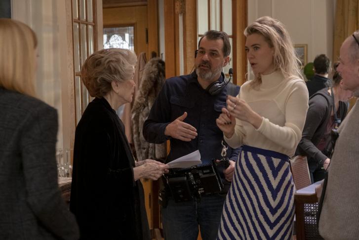 Ellen Burstyn, Mundruczó Kornél és Vanessa Kirby a Pieces of a Woman című film forgatásán.