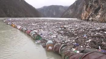 Elborította a szemét a Drina folyót és a Potpeckó-tavat