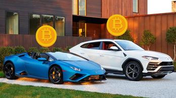 Már kriptovalutával is lehet fizetni egy amerikai Lamborghini-kereskedésben