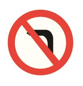 Az útkereszteződésben látható ez jelzőtábla: a balra kanyarodáson kívül még mit tilt?