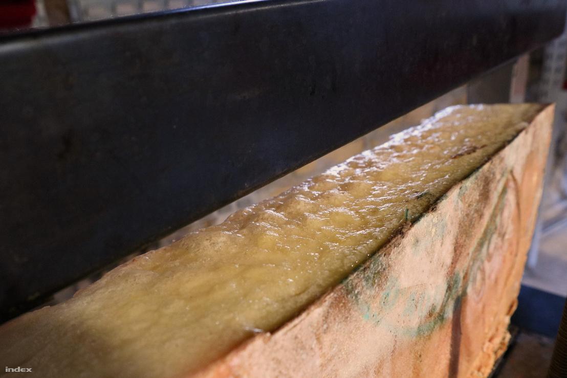 Olvadt a sajt.