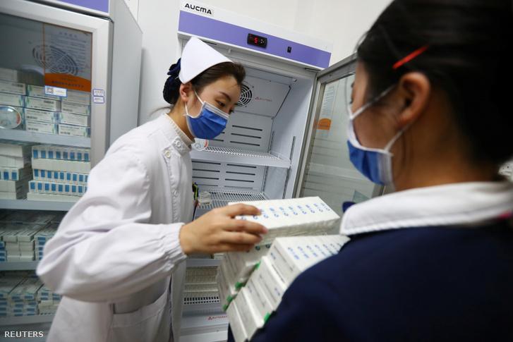 Sinopharm-vakcinák Kínában.