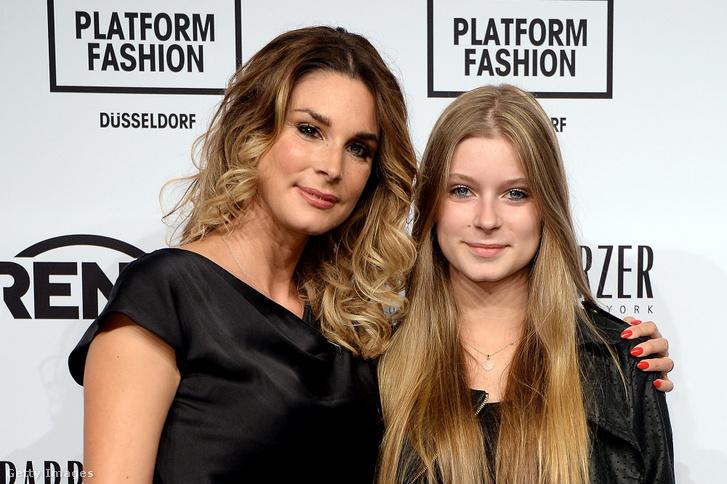 Claudelle Deckert és lánya, Romy 2014-ben