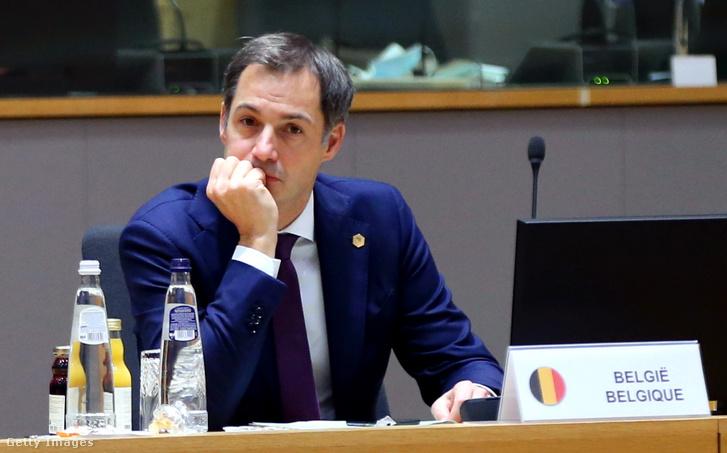 Alexander De Croo belga miniszterelnök.