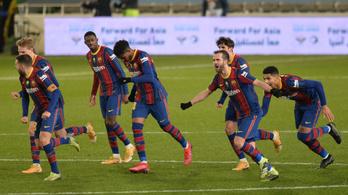 A Barcelona jutott elsőként a spanyol Szuperkupa döntőjébe