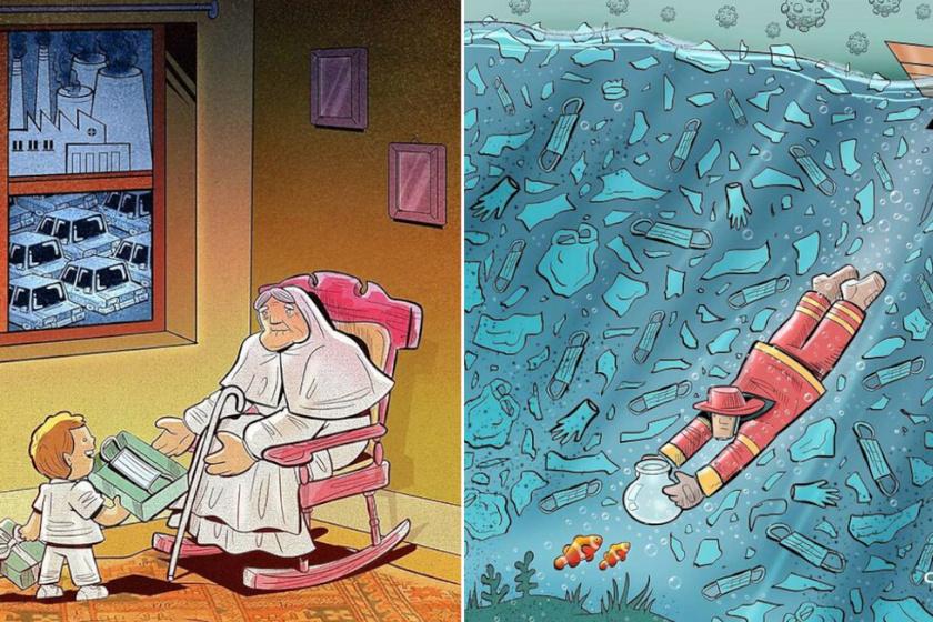 7 tűpontos rajz, ami görbe tükröt mutat a társadalomról: elgondolkodtató képek