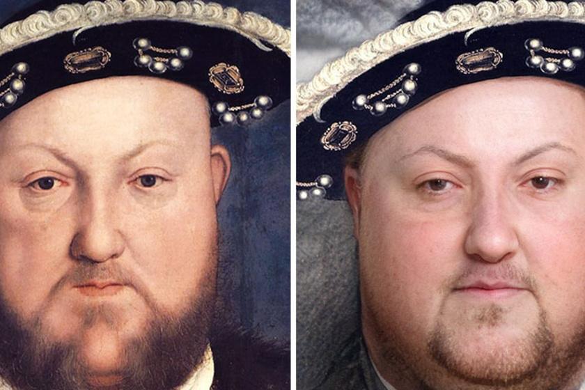 VIII. Henrik angol király.