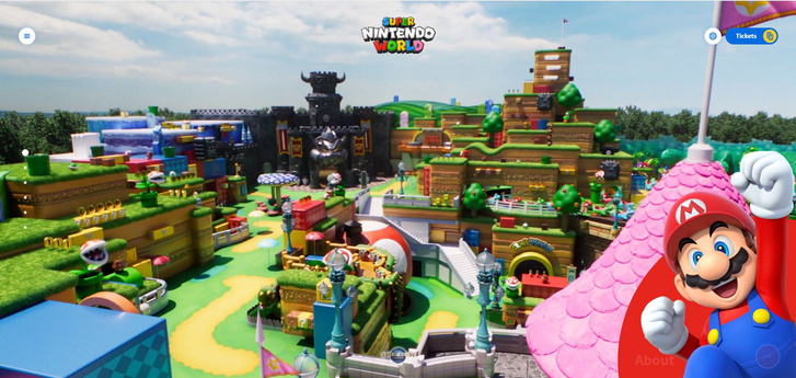 Super Nintendo World (Forrás: https://super-nintendo-world.usj.co.jp/en/us/home)