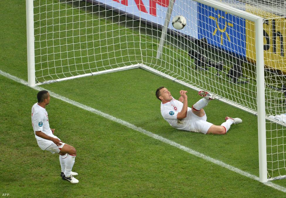 A gól, amit Vad II.-n kívül egész Európa látott. (Ukrajna-Anglia-mérkőzés június 19-én az ukrán-lengyel közös rendezésű Európa-bajnokságon)