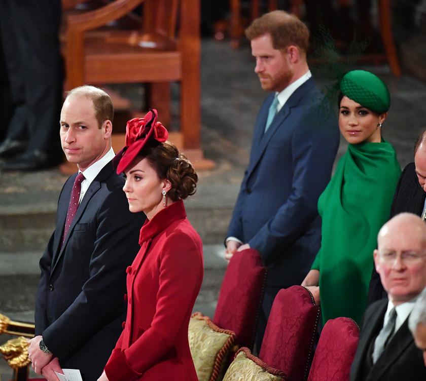 2020 márciusában elég fagyos volt a levegő a két hercegi házaspár között.
