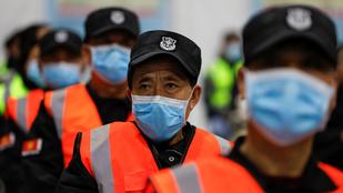 Március óta ma találták a legtöbb új fertőzöttet Kínában